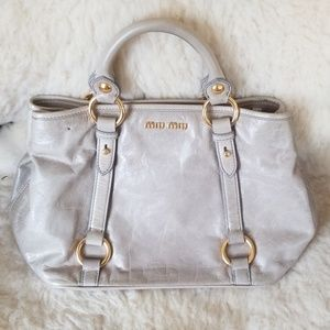 Authentic Miu Miu Vitello Satchel